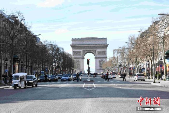 當地時間3月15日,法國巴黎處于防范新冠肺炎疫情工作最高階段(第三階段),巴黎地標凱旋門當天起對外關閉,直到另行通知為止。 <a target='_blank' href='http://www.qhxly.com.cn/'>中新社</a>記者 李洋 攝