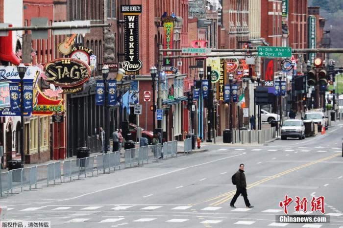 """当地时间3月22日,美国田纳西州首府纳什维尔市长约翰·库珀宣布为期14天的""""居家令"""",要求民众留在家中,以减少新冠病毒传播。"""