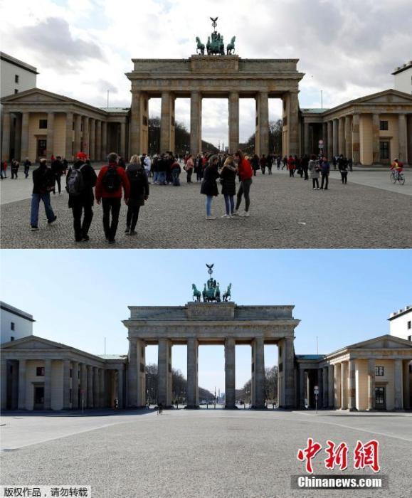 德国柏林勃兰登堡门。