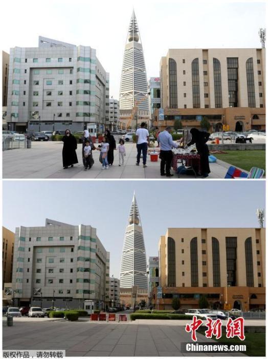 沙特阿拉伯首都利雅得法赫德国王图书馆附近。