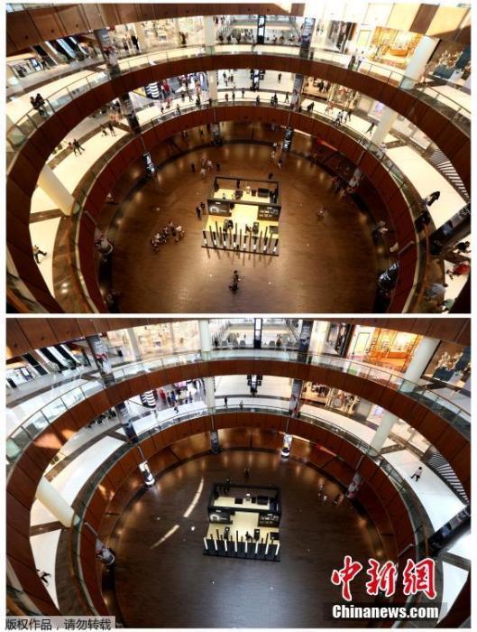 迪拜购物中心。