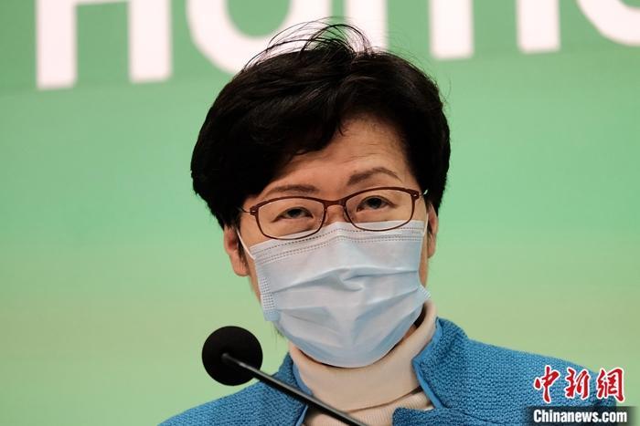 资料图:香港特区行政长官林郑月娥。 记者 秦楼月 摄