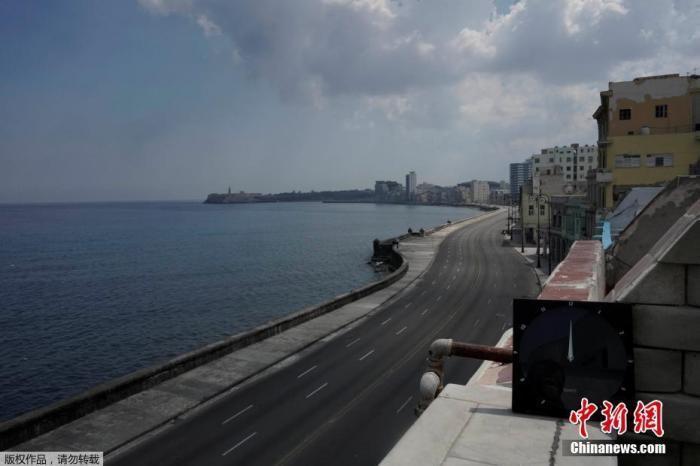 古巴哈瓦那海滨大道。