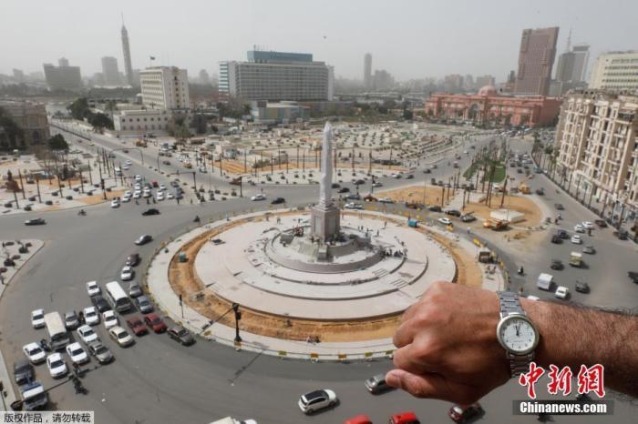 埃及开罗的解放广场。