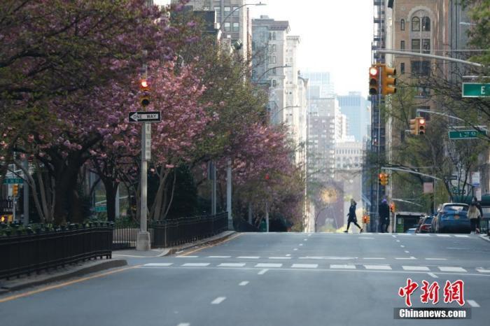 当地时间4月11日,受新冠肺炎疫情影响,纽约公园大道行人寥寥。据美国约翰斯·霍普金斯大学发布统计数据,截至11日傍晚,美国累计新冠肺炎确诊病例已经超过520000例,其中纽约州确诊病例超过180000例。 /p中新社记者 廖攀 摄