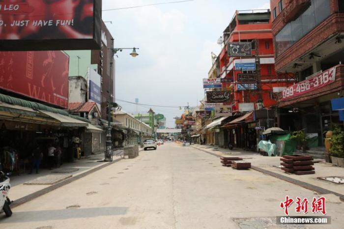 泰国曼谷的考山路上行人寥寥。<a target='_blank' href='http://www.chinanews.com/'>中新社</a>记者 王国安 摄