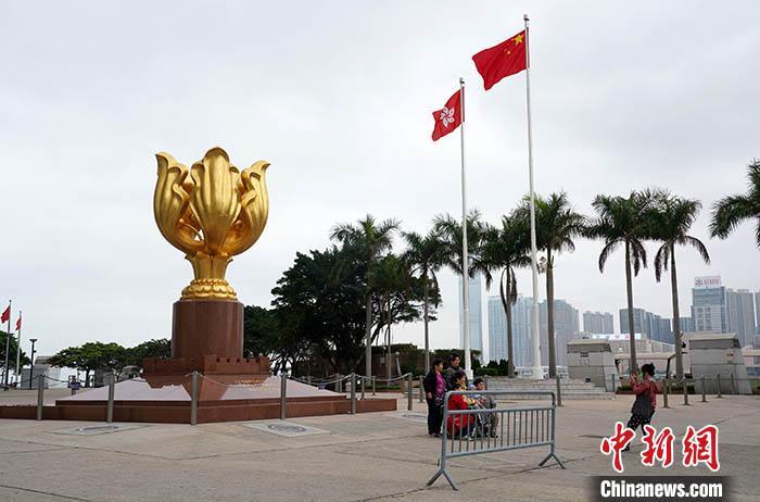 资料图:香港金紫荆广场。<a target='_blank' href='http://www.chinanews.com/'>中新社</a>记者 张炜 摄