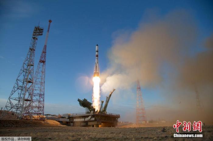 质料图:俄罗斯火箭正正在拜科努我支射场支射降空。