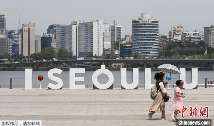 資料圖為疫情下的韓國。