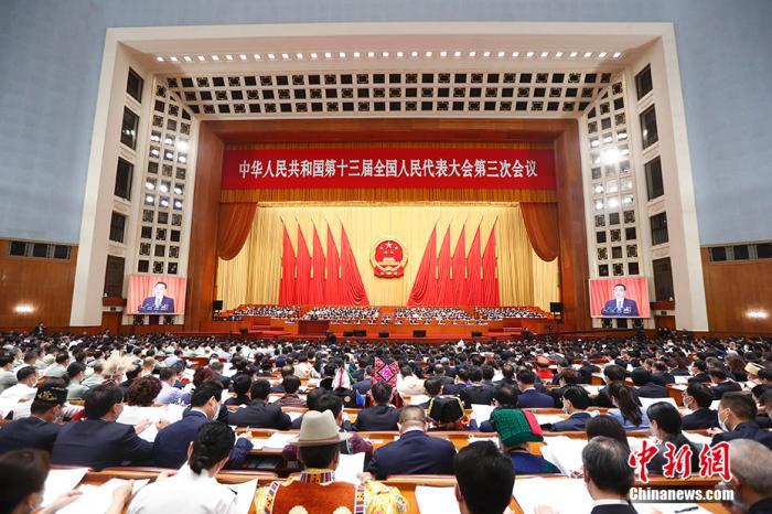5月22日,第十三届全国人民代表大会第三次会议在北京人民大会堂开幕。/p中新社记者 盛佳鹏 摄