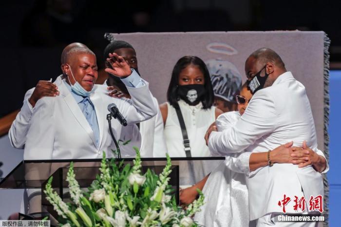 当地时间6月9日,美国非裔男子乔治·弗洛伊德的葬礼将在得克萨斯州休斯顿举行。