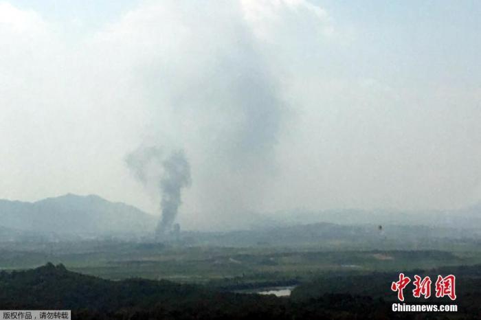 韩国统一部:韩朝联办被炸