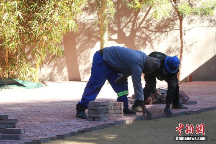 资料图:南非约翰内斯堡建筑工人在疫情下开工。 <a target='_blank' href='http://www.synthninja.com/'>中新社</a>记者 王曦 摄