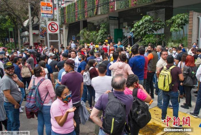墨西哥7.5级强震已致5人死亡 伤亡人数恐将上升