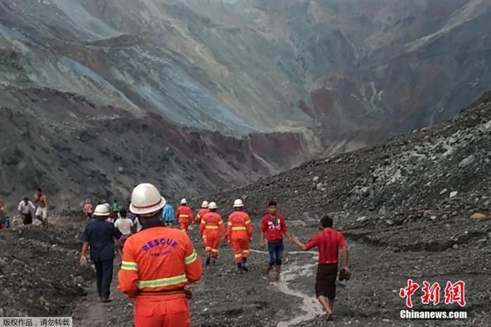 当地时间7月2日早上6时30分左右,缅甸帕敢翡翠矿区发生大规模塌方。