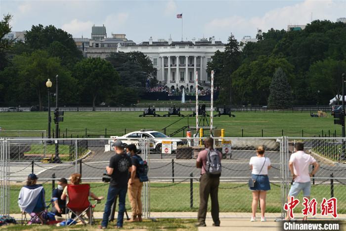 资料图:美国华盛顿白宫南草坪。