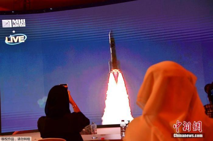 """当地时间7月20日,日本三菱重工业公司利用一枚H2A火箭,将阿联酋""""希望""""号火星探测器发射升空。"""