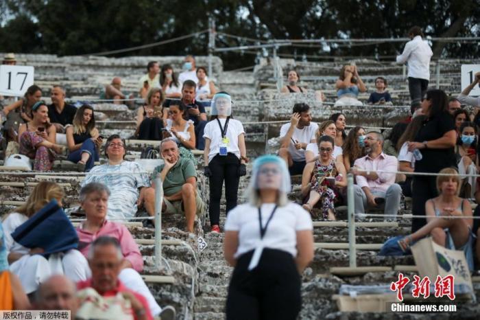 受疫情影响,希腊古剧场首次向全球直播古典戏剧演出。