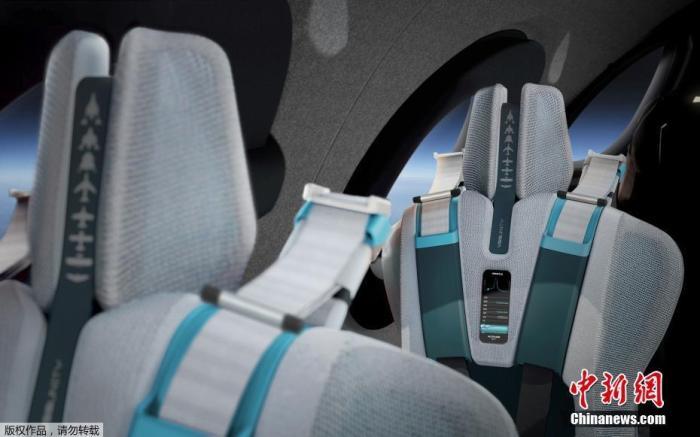 """資料圖:維珍銀河公司發布的概念圖展示了亞軌道飛行器""""宇宙飛船二號""""內部艙室的設計,機艙內部除了配備高度定制化的座椅外,還設有12孔窗戶可供太空旅客欣賞宇宙景色。"""
