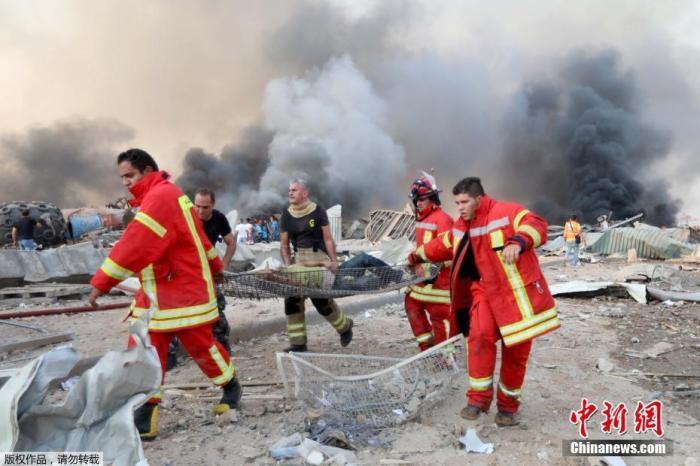 爆炸发生后,大量救护车赶往现场运送伤亡人员。许多消防车前往现场救火,军方还出动多架直升机帮助灭火。