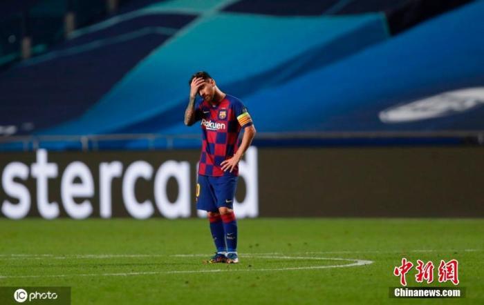 资料图:巴萨队长梅西在比赛中。 图片来源:IC photo