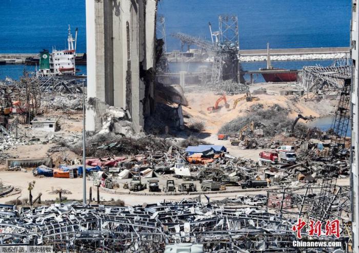 黎巴嫩军方清查爆炸港口 共发现1.32吨烟花
