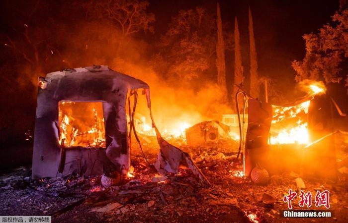 """美加州山火致至少7人死亡 旧金山三面被野火""""包围"""""""