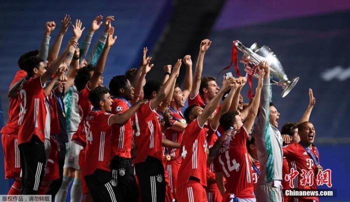 资料图:拜仁加冕2019-2020赛季欧冠冠军。