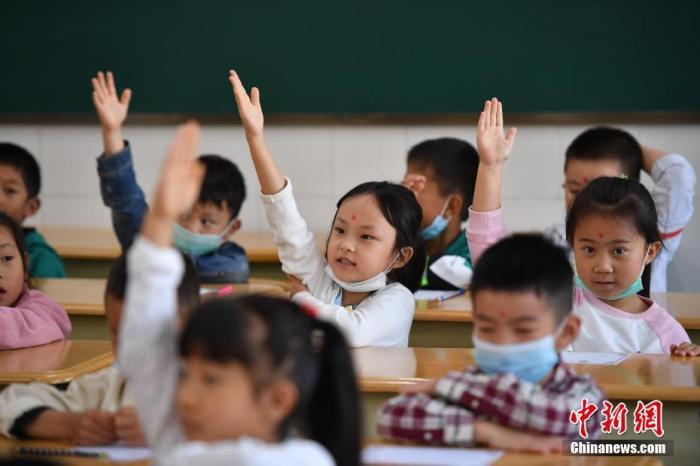 资料图:小学课堂中的孩子们。<a target='_blank' href='http://www.chinanews.com/'>中新社</a>记者 刘冉阳 摄