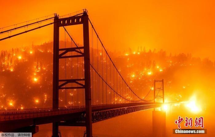 破坏程度前所未有!美国西部大火持续 已致15人死亡图片