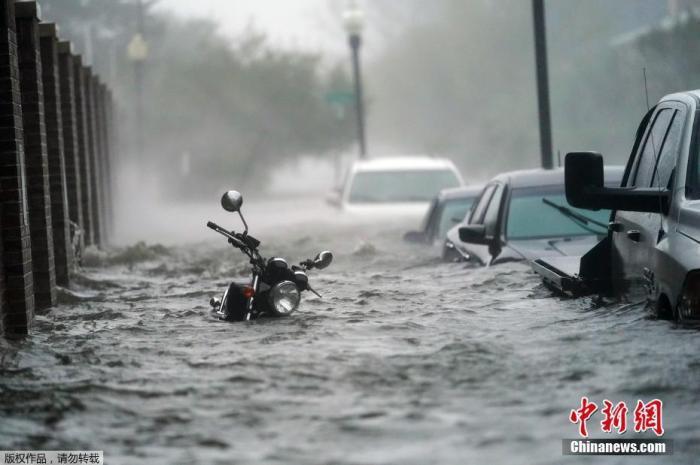 """""""萨莉""""降为热带气旋 致美国1人死另有数百人获救图片"""