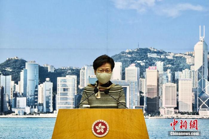 香港特区行政长官林郑月娥。 中新社记者 李志华 摄
