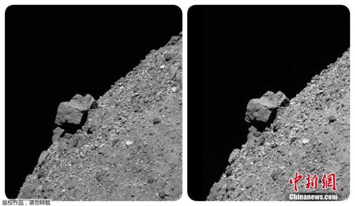 """美国宇航局:探测器收集器发生泄漏  """"本努""""部分岩石样本漂入太空"""