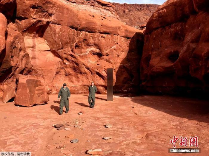 踪迹成谜!美国沙漠中的神秘金属块,又消失了(图)