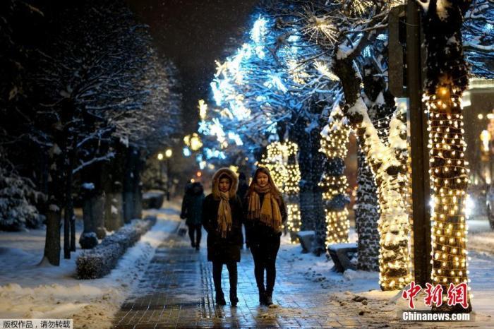 德国不莱梅圣诞装饰美轮美奂。