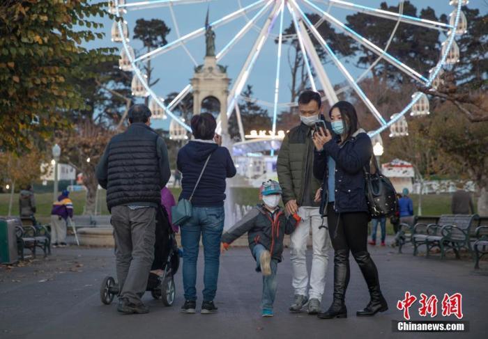 当地时间11月29日,美国加州旧金山金门公园里的摩天轮暂停运营。中新社记者 刘关关 摄