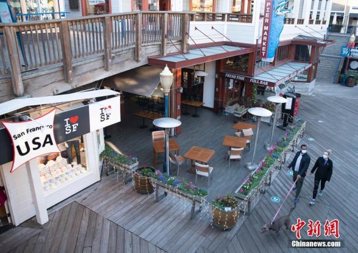 当地时间12月7日,美国加州旧金山渔人码头一家餐厅停止提供户外就餐服务。a target='_blank' href='http://www.chinanews.com/'中新社/a记者 刘关关 摄