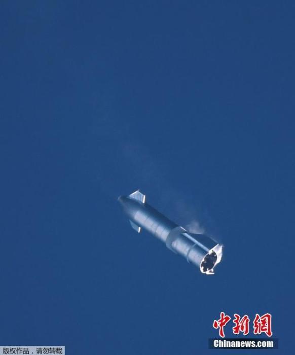 """美SpaceX""""星舟""""SN8第二次试飞 着陆时发生爆炸插图1"""