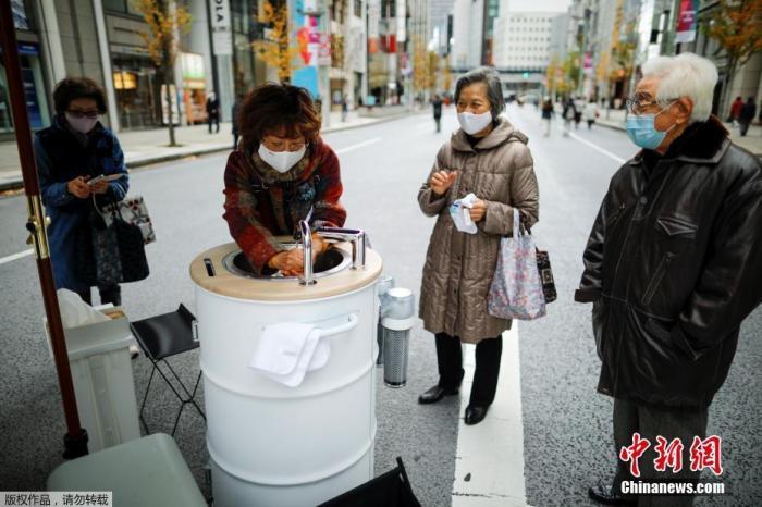 资料图:疫情下的日本东京。