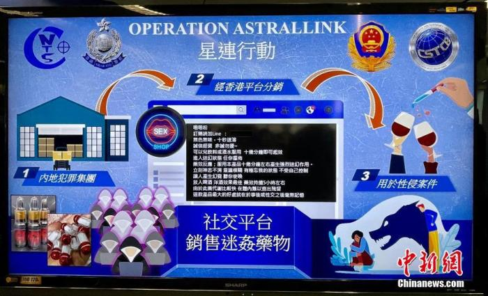 图为香港警方展示犯罪集团的行动过程。 <a target='_blank' href='http://www.chinanews.com/'>中新社</a>记者 李志华 摄