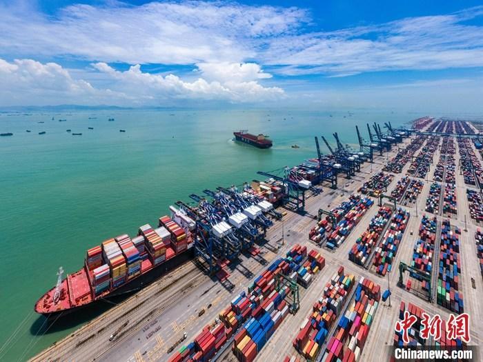 资料图:广州港南沙港区。中新社发 广州港集团 供图
