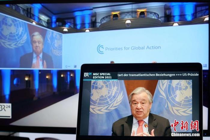 资料图:联合国秘书长古特雷斯。 <a target='_blank' href='http://www.chinanews.com/'>中新社</a>记者 彭大伟 摄