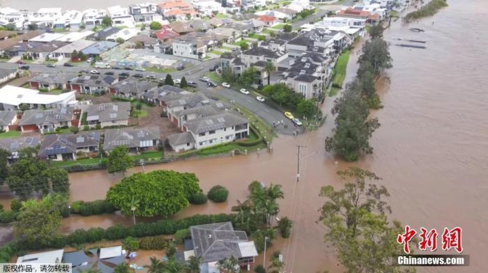 圖為暴雨后被淹沒的地區。