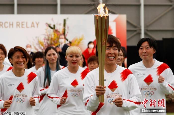 日本女足国家队在世界杯夺冠的成员担任第一棒火炬手。