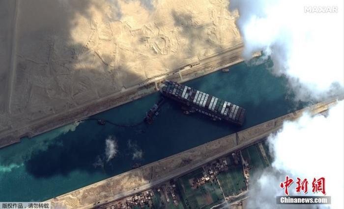 杨贵妃秘史电影苏伊士运河搁浅巨轮部分上浮 外媒:复航期望值增高