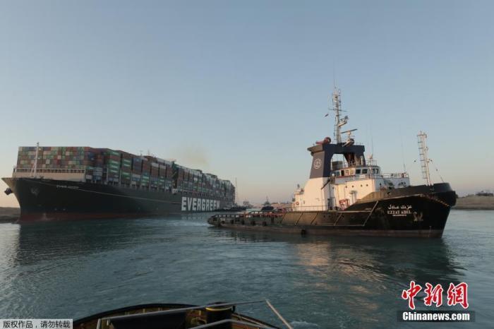 苏伊士运河通了!113艘船将先通行 埃及或向船东索赔