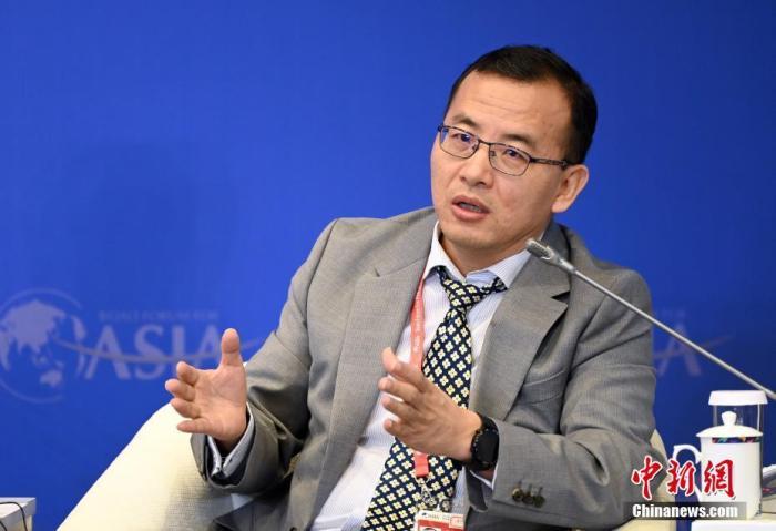 """4月19日,博鳌亚洲论坛2021年年会""""工业互联网与数字化转型""""分论坛在海南博鳌举行,华为技术有限公司公司战略部总裁张文林出席并参与讨论。 <a target='_blank' href='http://www.senbaojiuzhuang.cn/'>中新社</a>记者 侯宇 摄"""