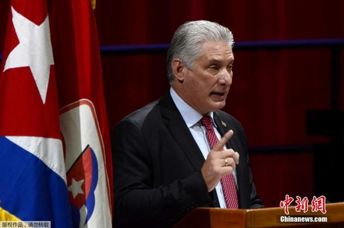 古巴共产党第八次全国代表大会于本月16日在首都哈瓦那开幕。会上,古共中央第一书记劳尔·卡斯特罗宣布将卸任党的最高领导人职务。图为迪亚斯-卡内尔。