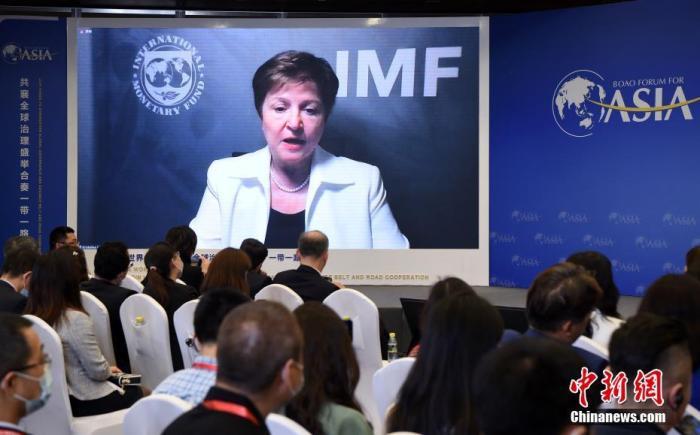 资料图:国际货币基金组织总裁格奥尔基耶娃。 <a target='_blank' href='http://www.chinanews.com/'>中新社</a>记者 侯宇 摄