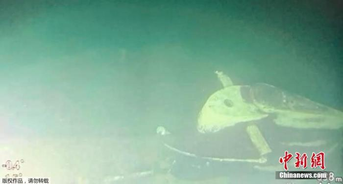 当地时间4月25日,印尼国民军总司令哈迪称印尼政府和军方已竭尽全力搜救沉没潜艇,在搜救中使用声纳进行精确扫描,并派出水下机器人以增强影像效果。确切影像显示,沉没潜艇在838米深的海底已断成三截。水下摄像机拍到了包括潜艇后垂直舵、锚、救生服在内的大量潜艇碎片。哈迪宣布根据搜救现场发现的大量证据判断,21日失联沉没的KRI Nanggala-402潜艇上的53名官兵已遇难。图为失联潜艇的部分残骸。